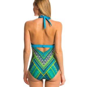 Prana Swim - Prana Lahari One Piece Swimsuit in Blue Panama
